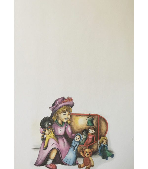 Little Girl And Her Toys Notepad