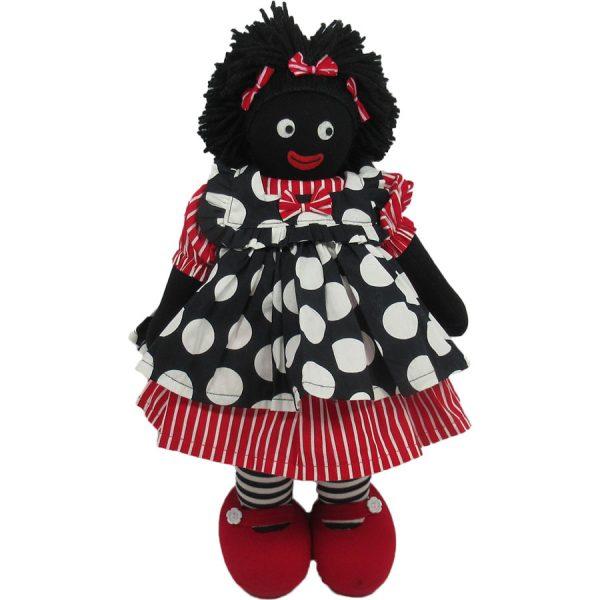 """Kate Finn: Ruby Doll 14"""" Golliwog"""