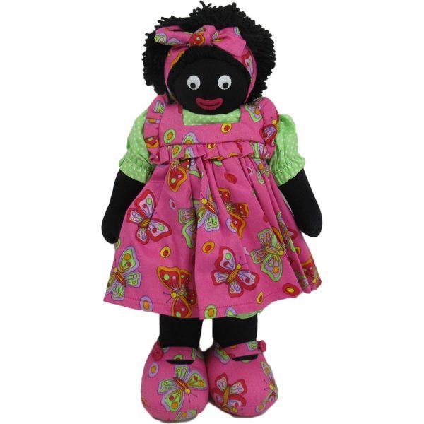 """Kate Finn: Queenie Doll 14"""" Golliwog"""