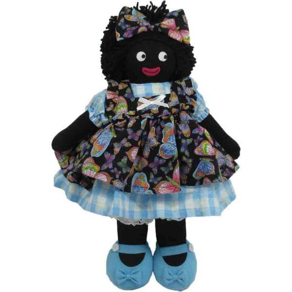 """Kate Finn: Sapphire Doll 14"""" Golliwog"""
