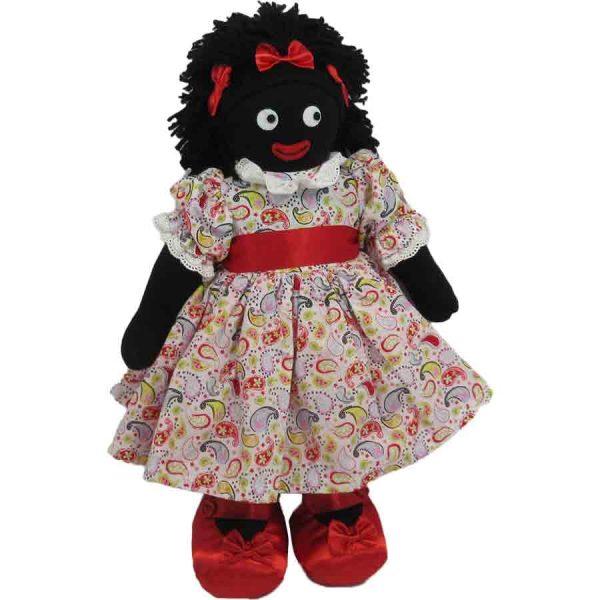 "Kate Finn: Paisley Doll 14"" Golliwog"