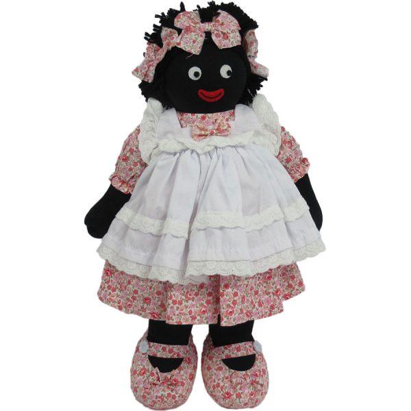"""Kate Finn: Coral Doll 14"""" Golliwog"""